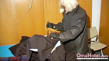 omahotel nasty grannie nun attempts sadism & s&m.